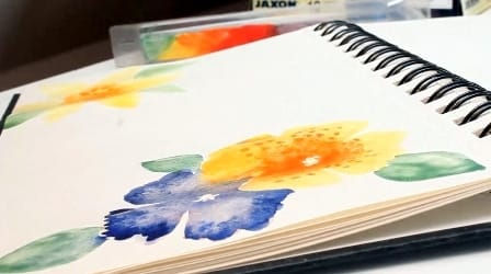 DIY Letter Paper with Gouache Flowers - image 12 - student project