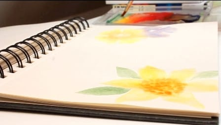 DIY Letter Paper with Gouache Flowers - image 10 - student project