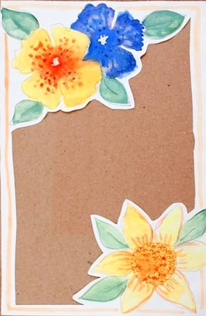 DIY Letter Paper with Gouache Flowers - image 14 - student project