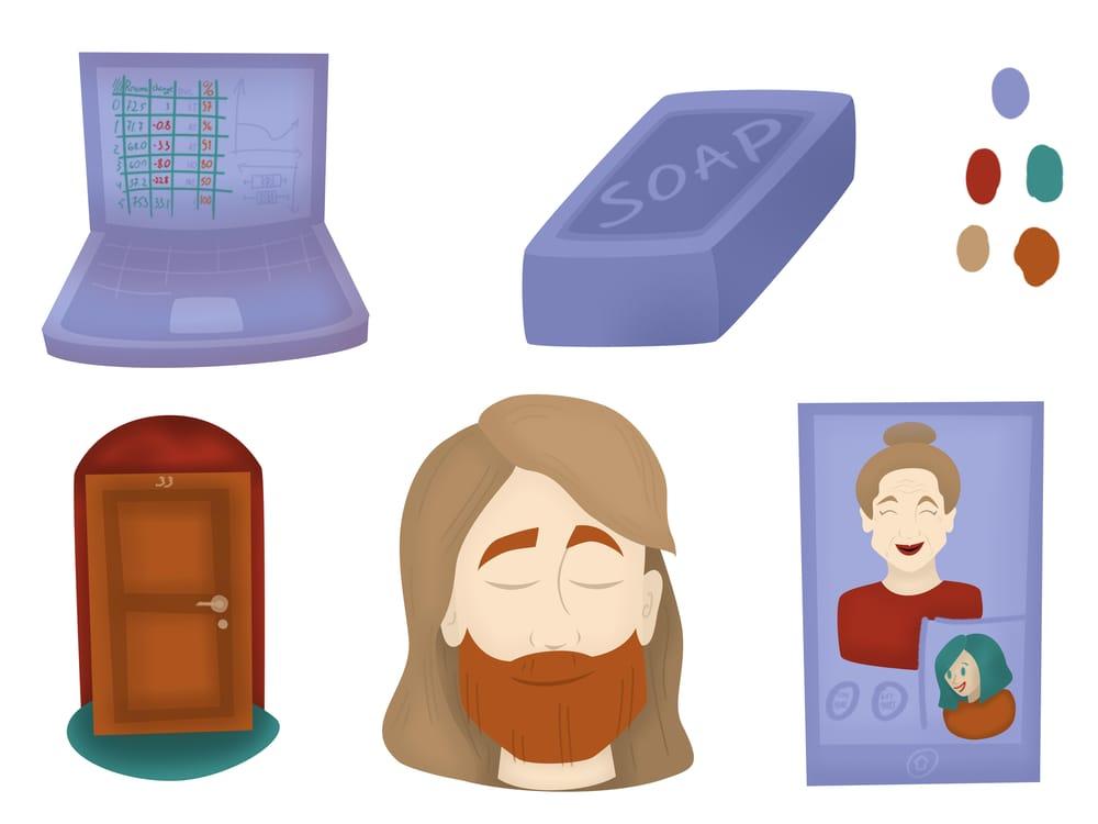 Sweet Spots - Spot illustrations - Topic: Virus - image 1 - student project