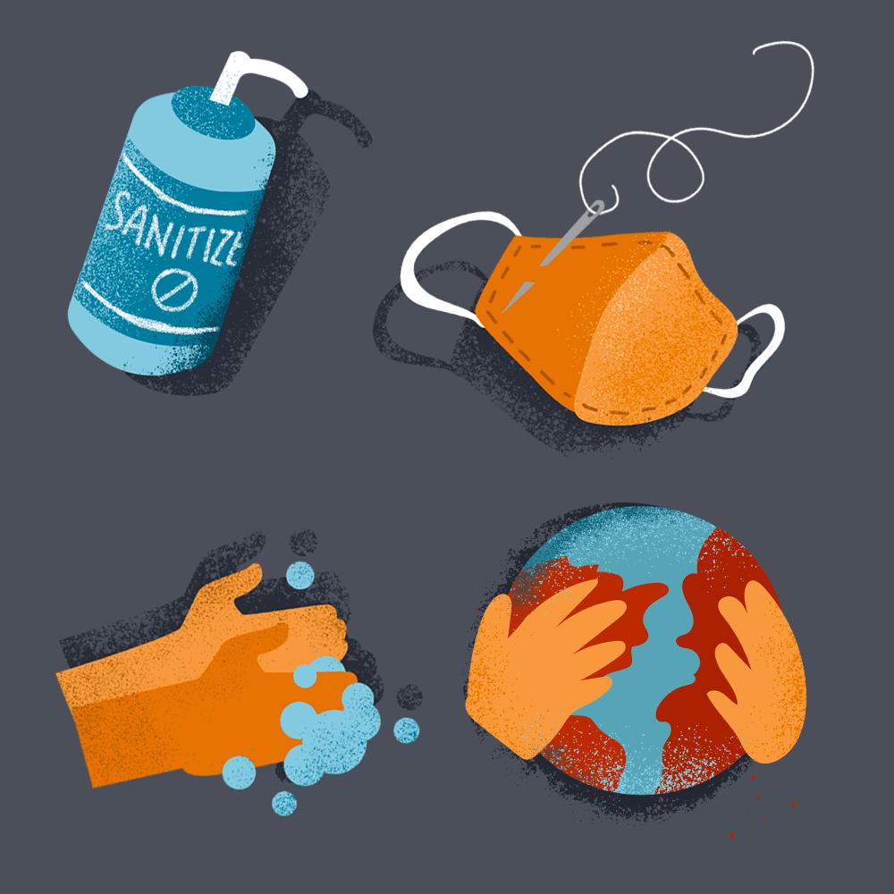 Coronavirus Editorial Illustrations - image 1 - student project