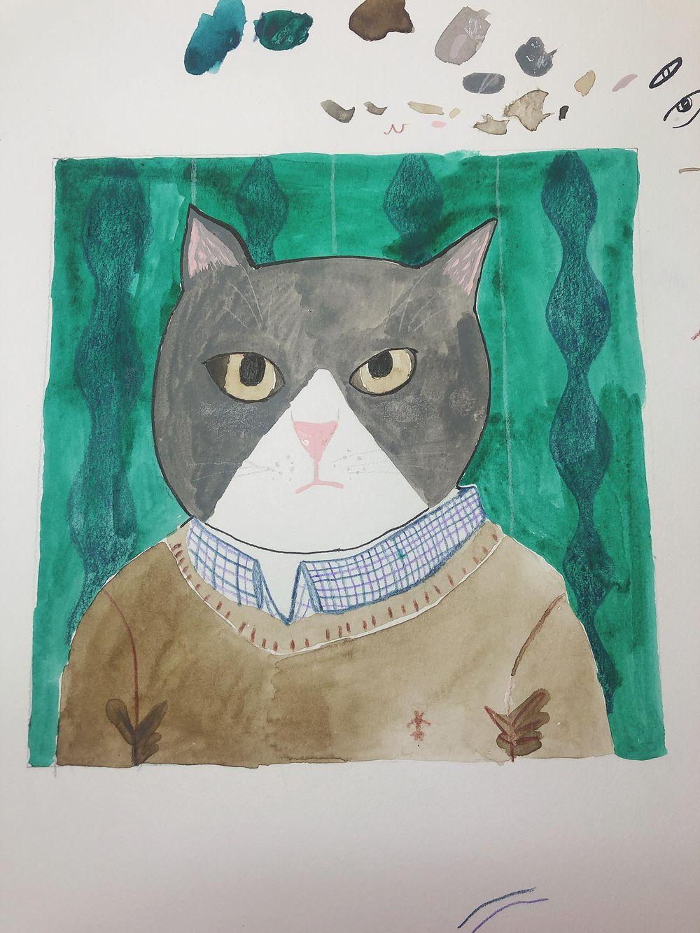 Cat portrait - image 1 - student project