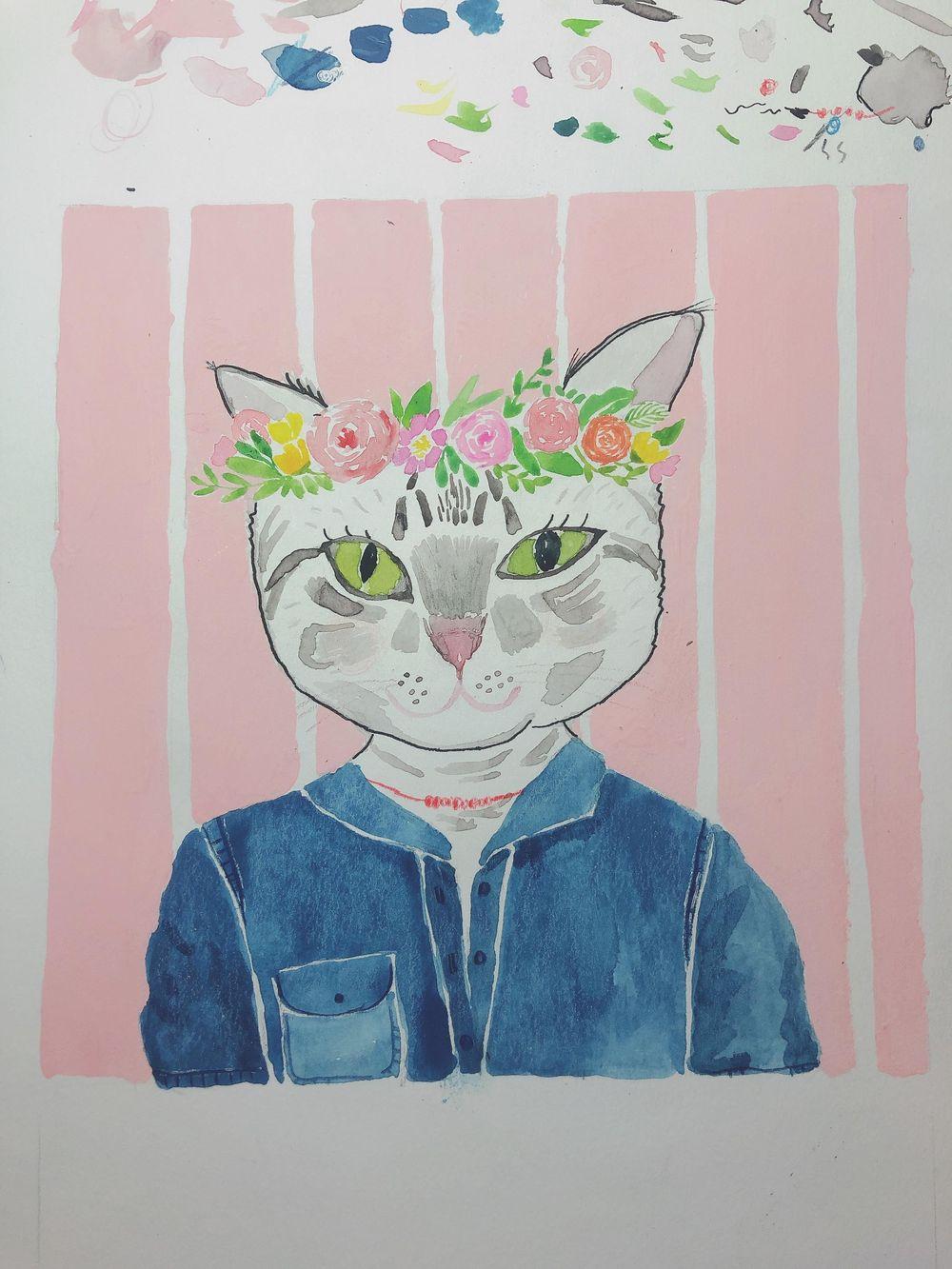 Cat portrait - image 2 - student project