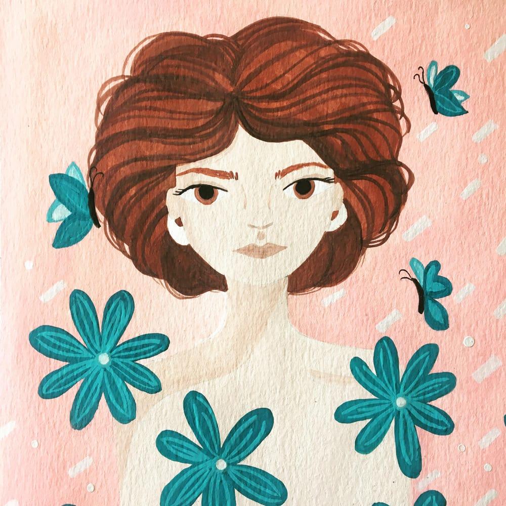 portrait with gouache - image 1 - student project