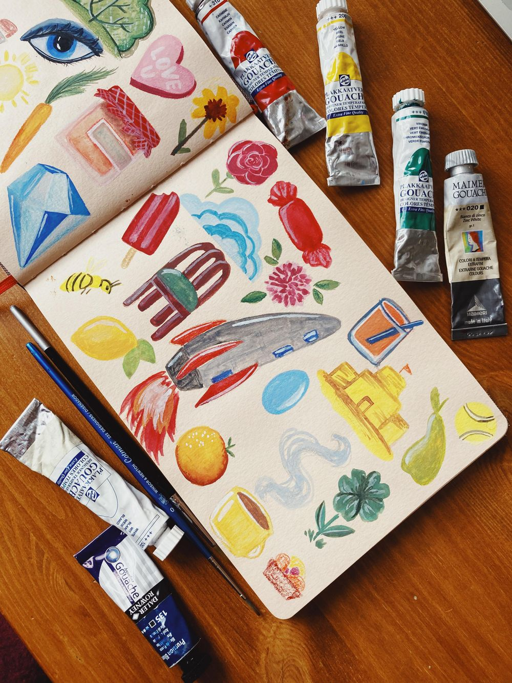 Gouache - Random objects - image 2 - student project