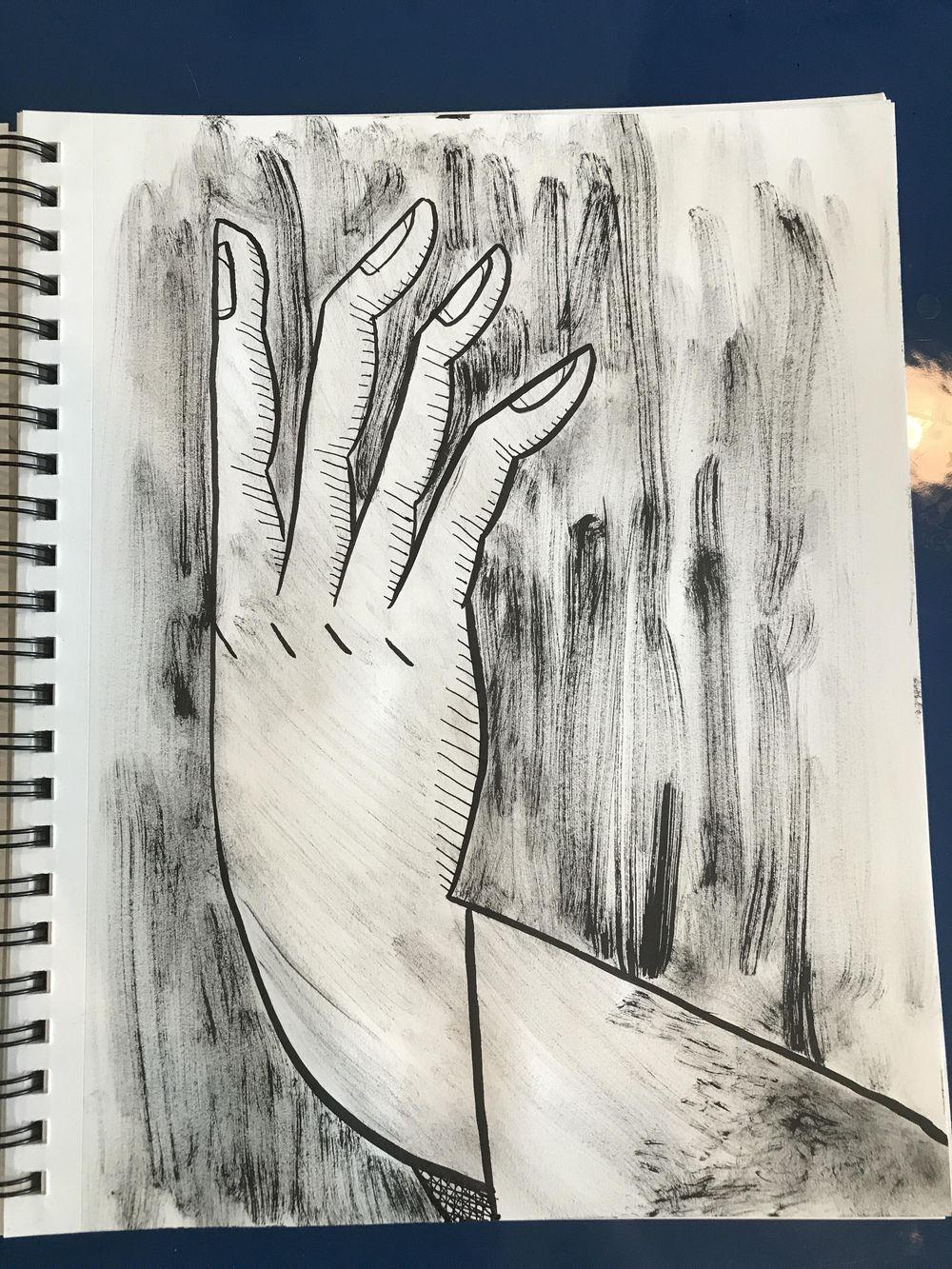 Ink portrait - image 1 - student project