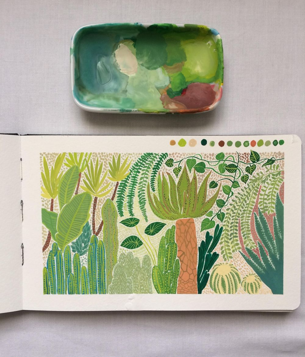 Gouache Botanical Illustration - image 2 - student project