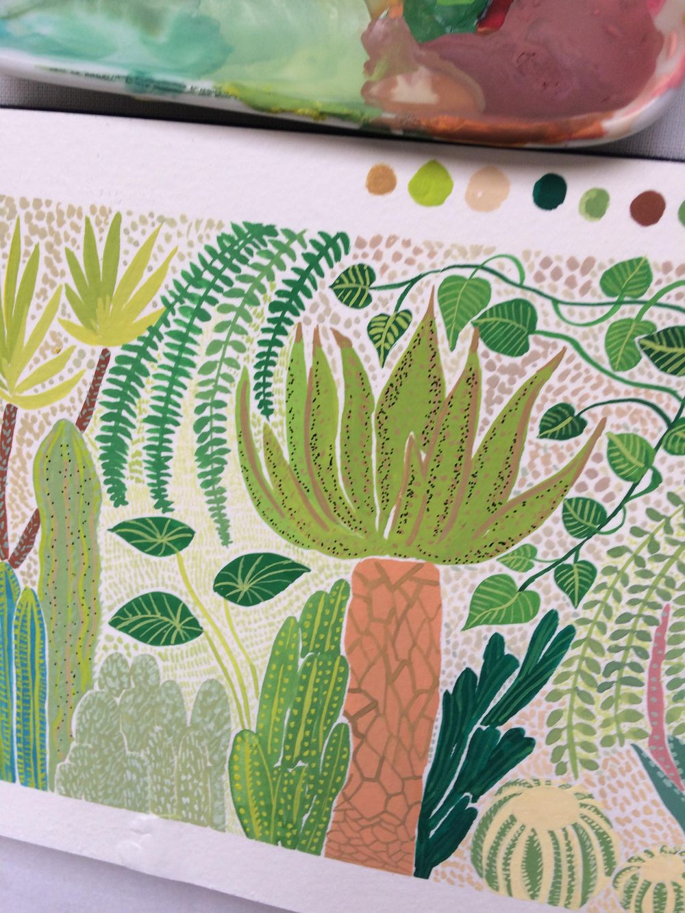 Gouache Botanical Illustration - image 1 - student project