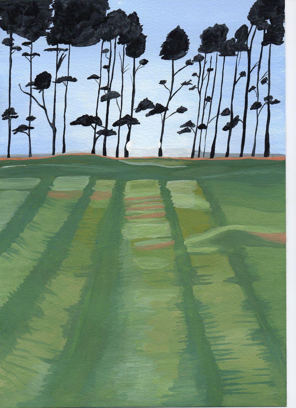 Gouache Landscape - image 1 - student project