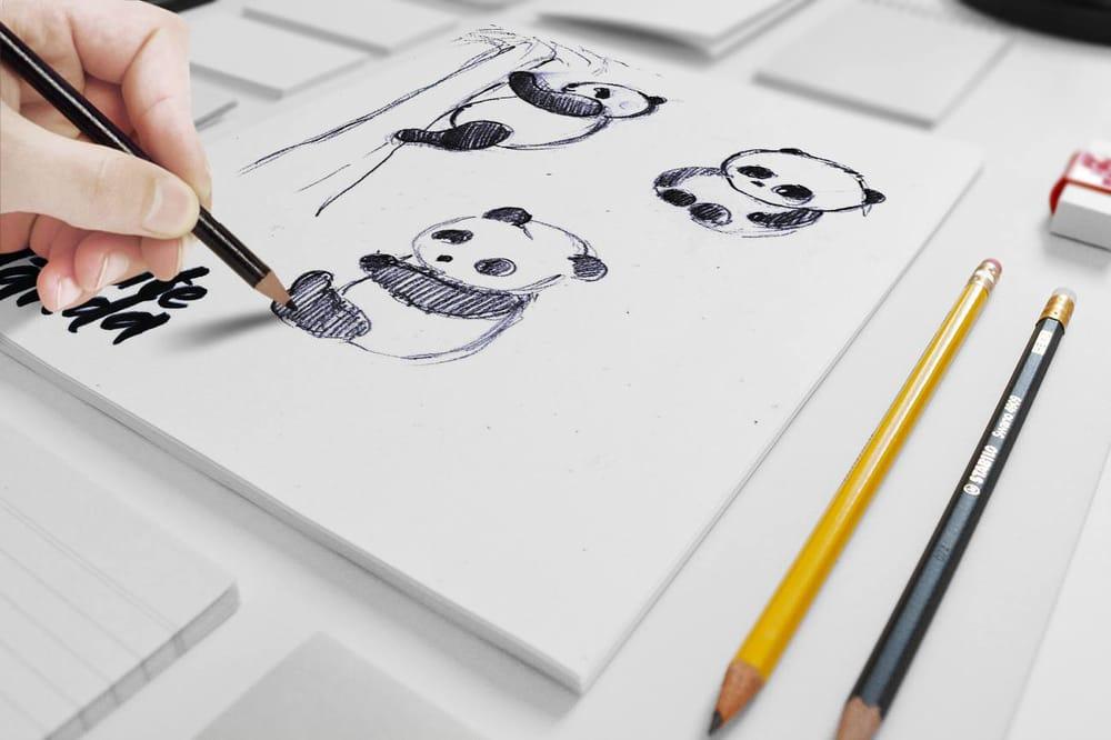 Panda illustrations - image 1 - student project
