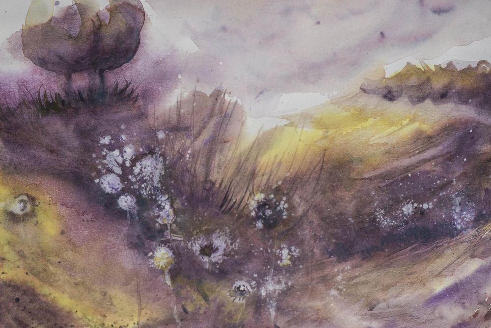Yello and purple landscape... - image 1 - student project