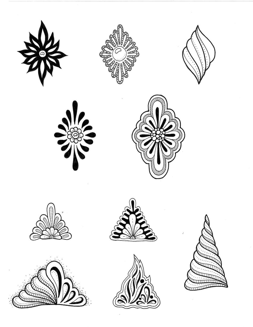 Inked Shapes and Fill a page - image 2 - student project