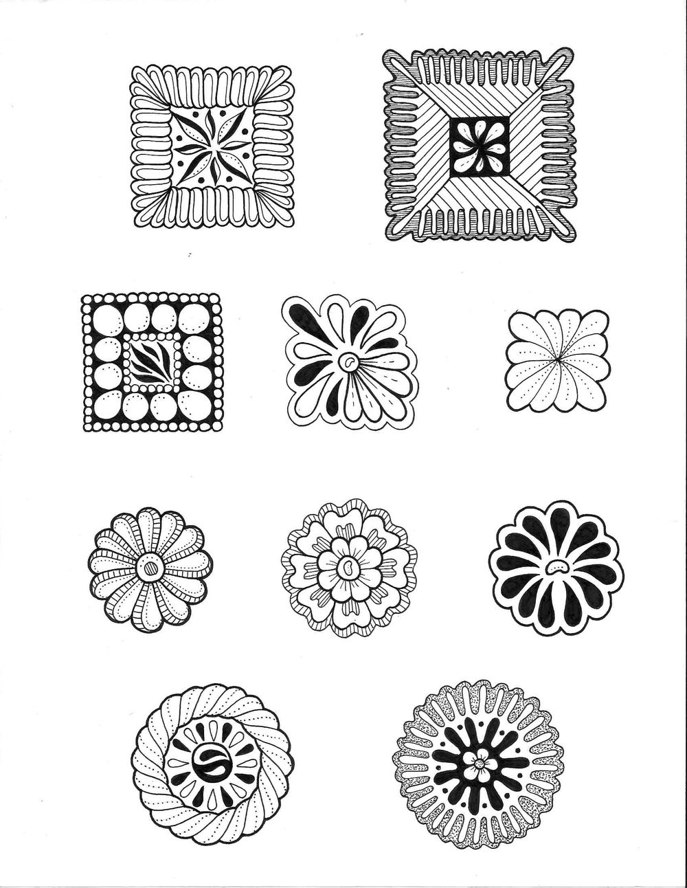 Inked Shapes and Fill a page - image 1 - student project