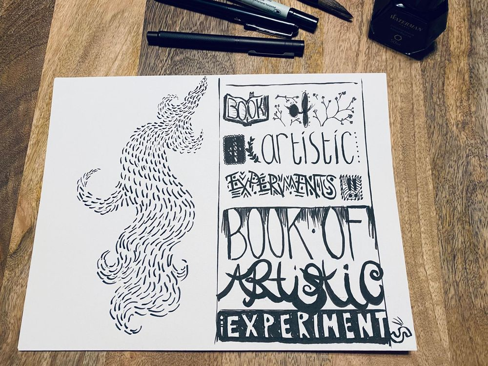 """""""Black ink only"""" was the goal... - image 1 - student project"""