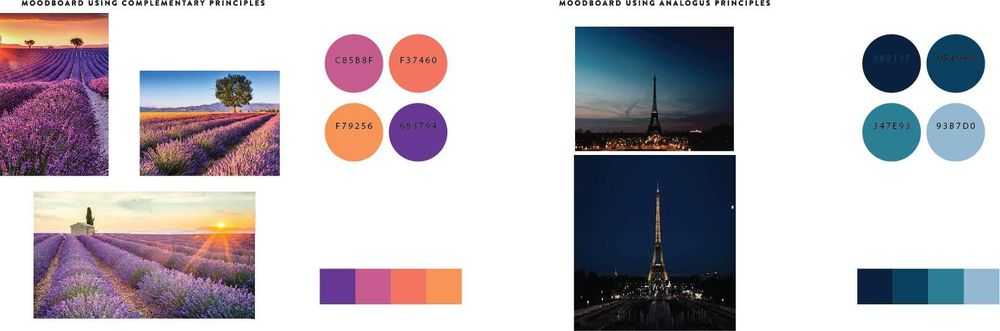 Moodboards with a French theme - image 1 - student project