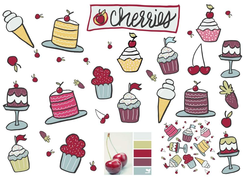 Cupcake Box Cherries - image 2 - student project