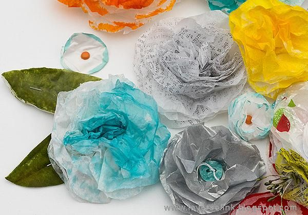 Sample Projects Tissue Paper Flowers - image 10 - student project