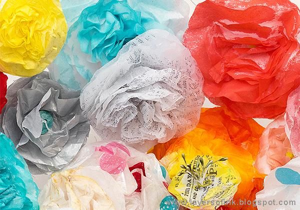 Sample Projects Tissue Paper Flowers - image 8 - student project