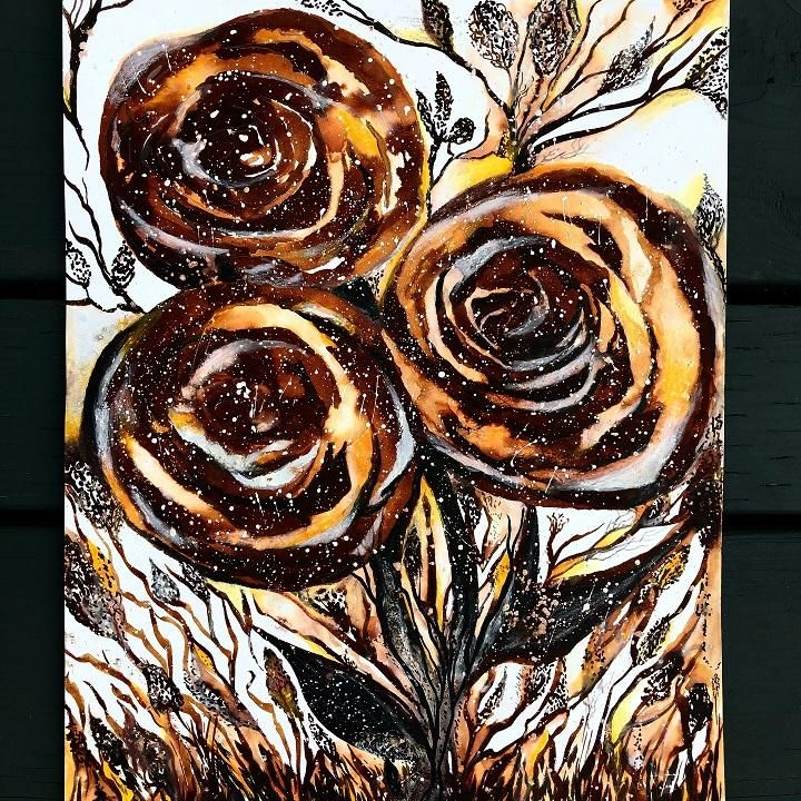 Thinking in INK - cafe au lait roses - image 4 - student project