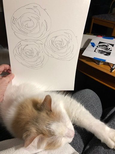 Thinking in INK - cafe au lait roses - image 2 - student project