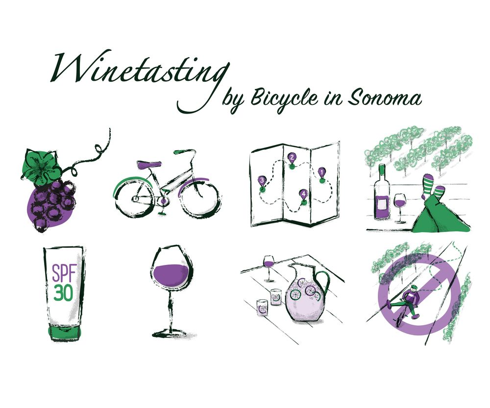 Wine Tasting by Bicycle in Sonoma - image 1 - student project