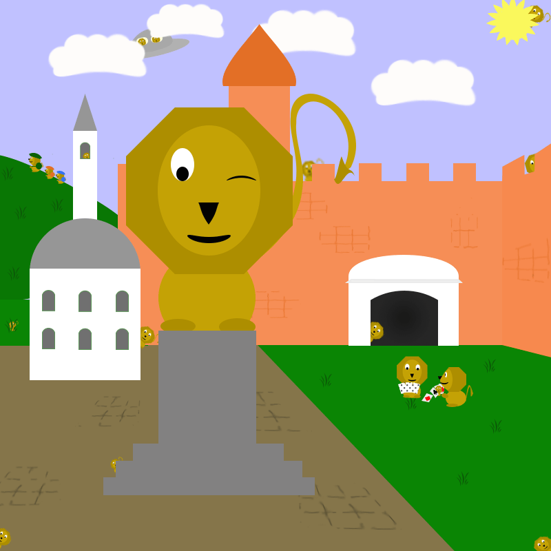 Little Zrinyi Lions rush the town - image 1 - student project