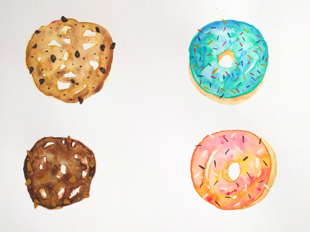 Sweet watercolors - image 4 - student project