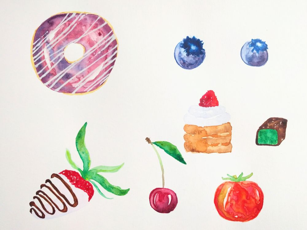 Sweet watercolors - image 1 - student project