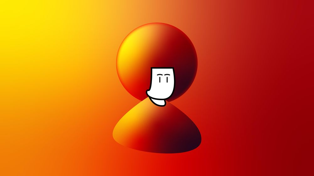 Simple character with Fire-ish gradient - image 1 - student project