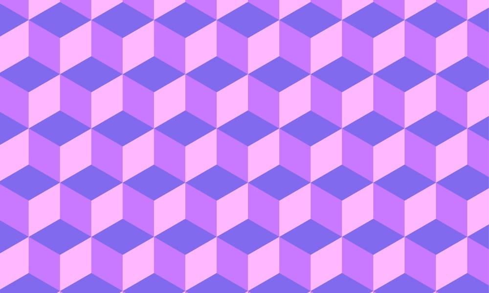 Purple Pastel Cube Pattern - image 1 - student project