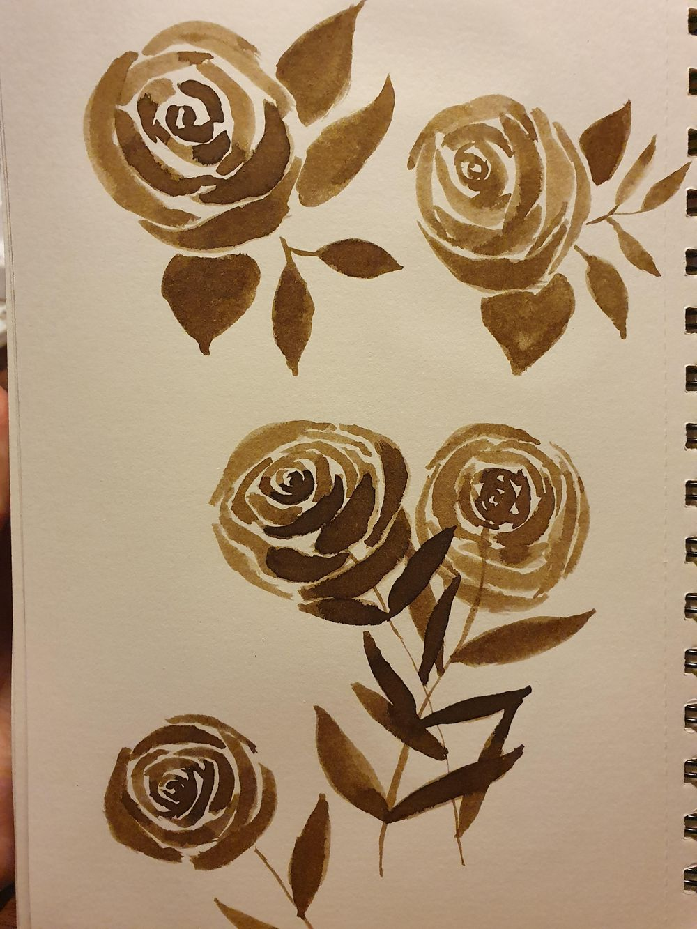 Sepia ink flowers - image 1 - student project