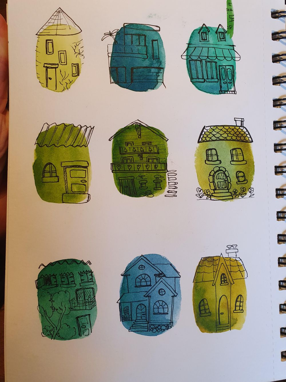 Watercolor blobs - image 3 - student project
