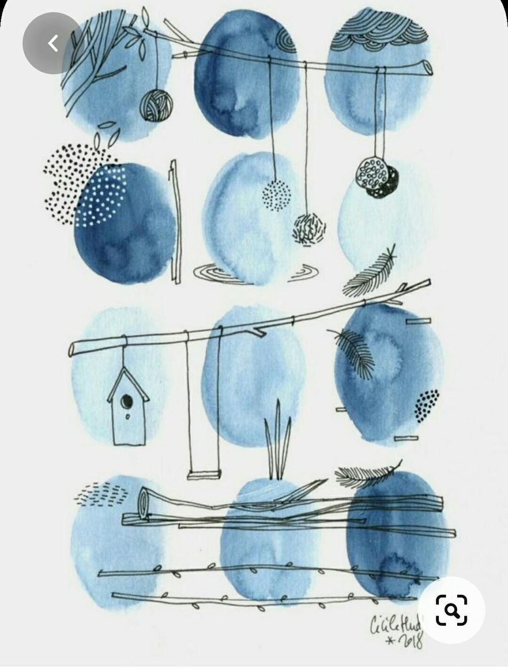 Watercolor blobs - image 1 - student project