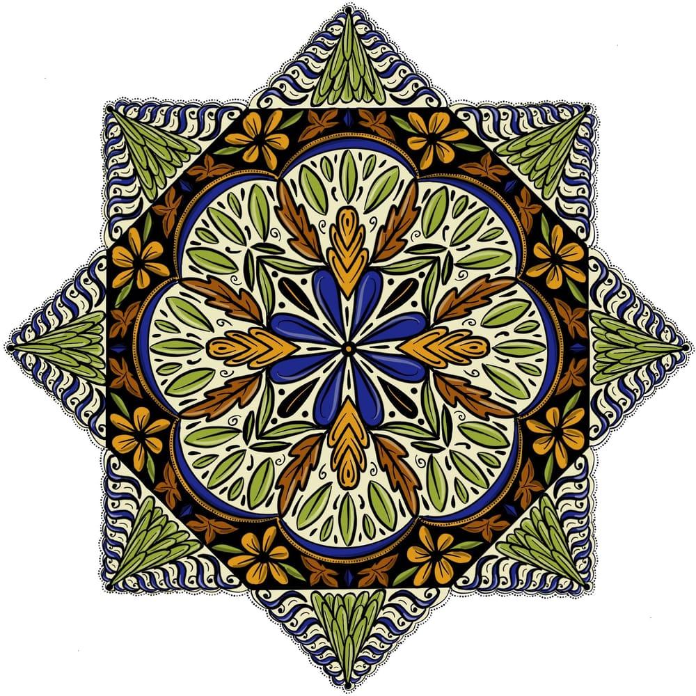 Leaves Mandalas - image 1 - student project