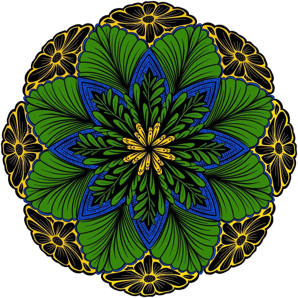 Leaves Mandalas - image 2 - student project