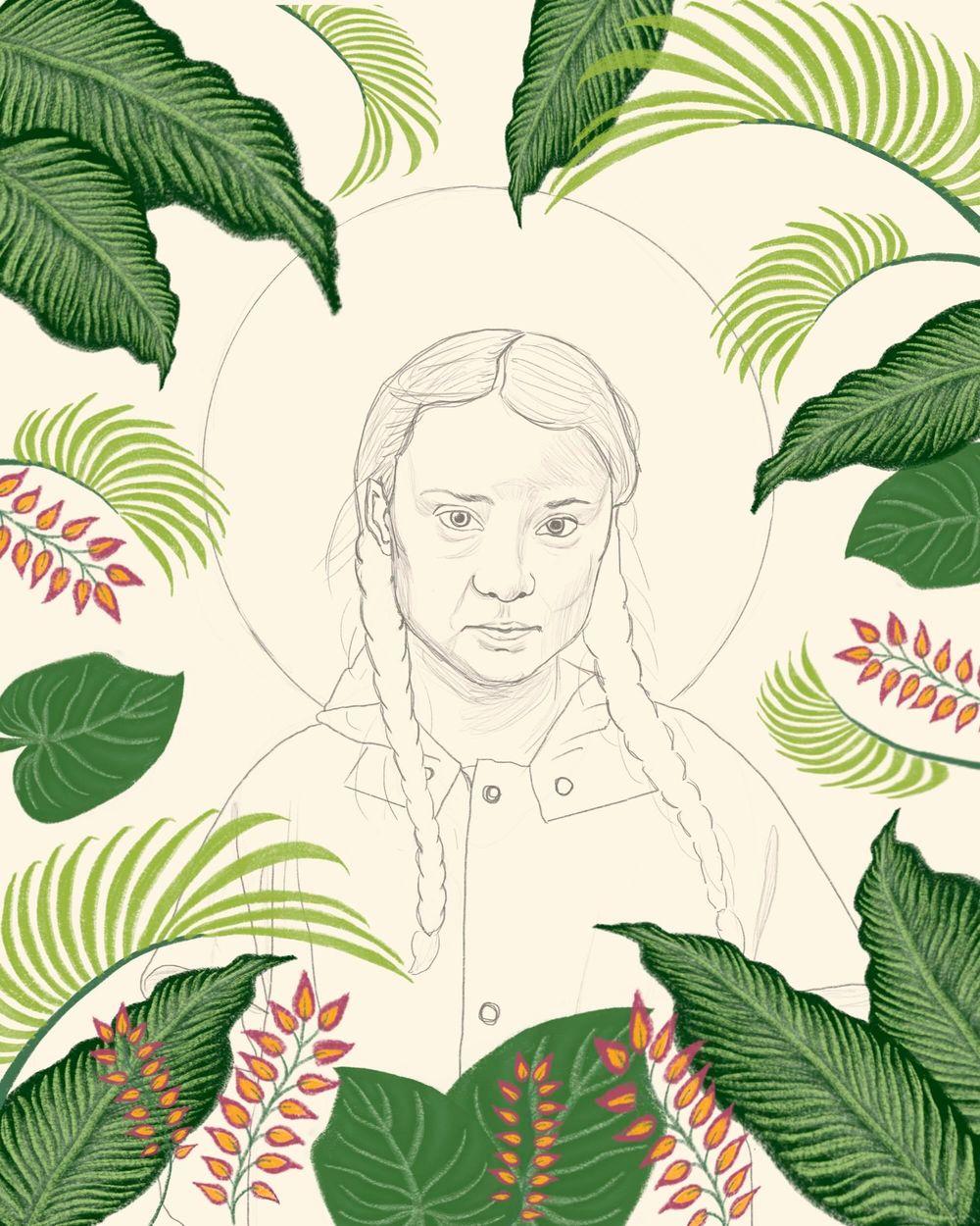 Greta Thunberg illustration - image 2 - student project