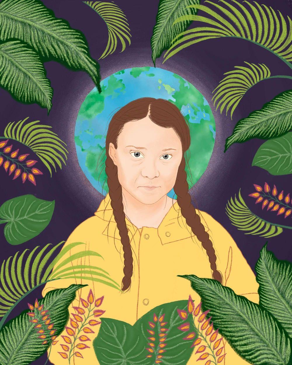 Greta Thunberg illustration - image 1 - student project