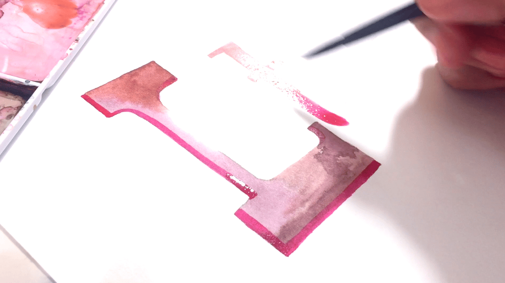 Watercolor Lettering - Serifs - image 3 - student project