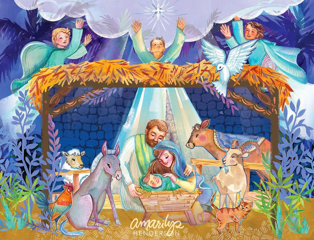 Pop-Up Nativity Book! - image 1 - student project