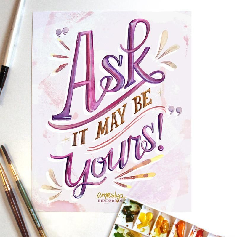 Watercolor Lettering - Serifs - image 1 - student project