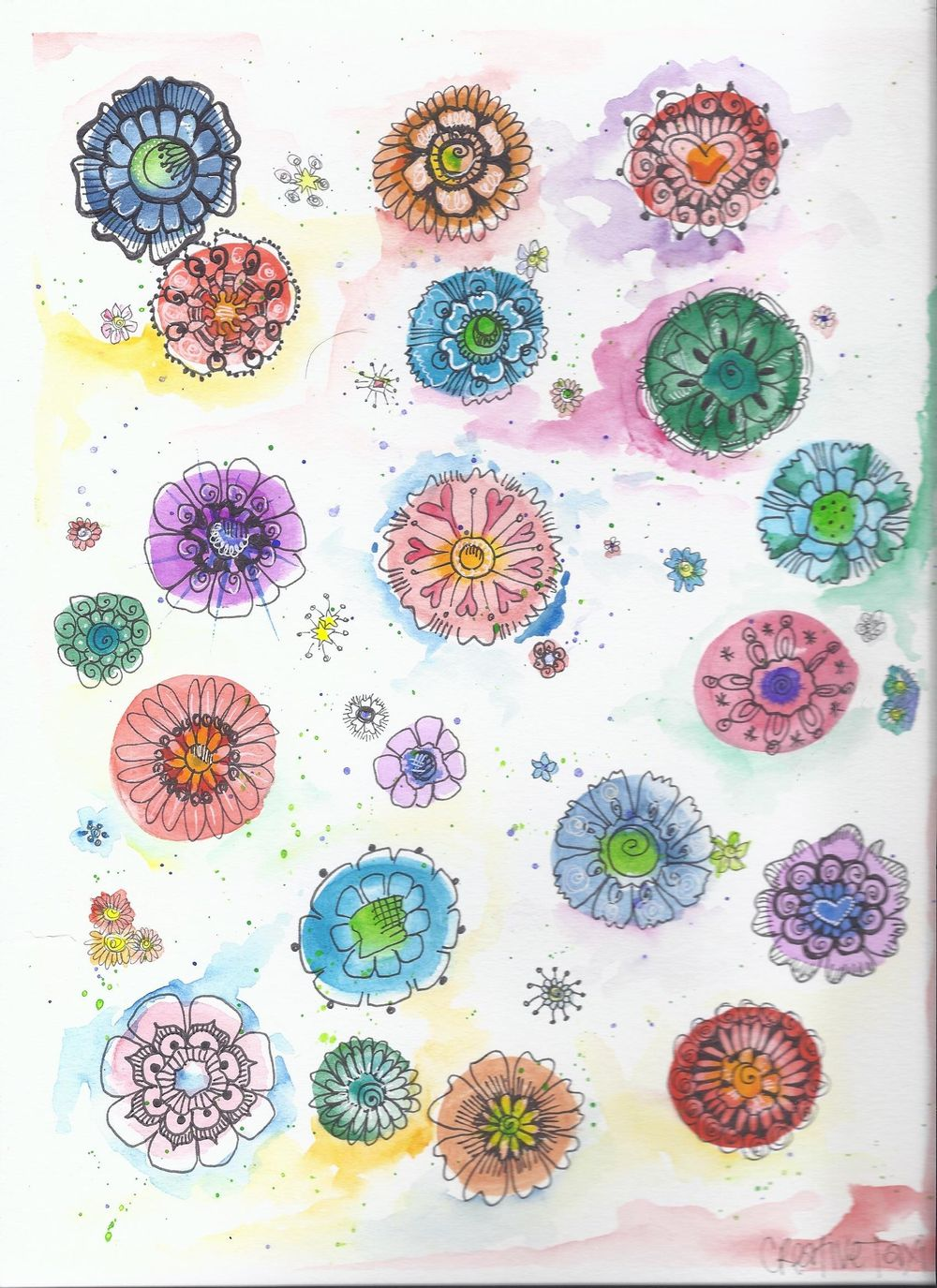 Water color flowers - image 1 - student project