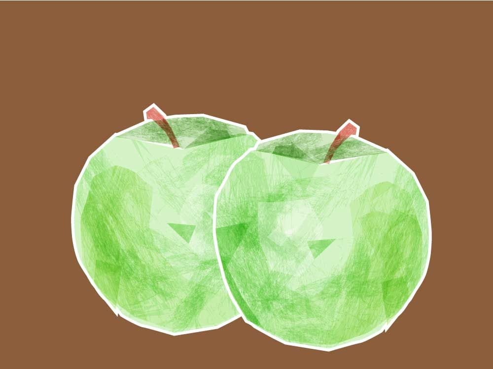Two Tissue Paper Apples - image 1 - student project