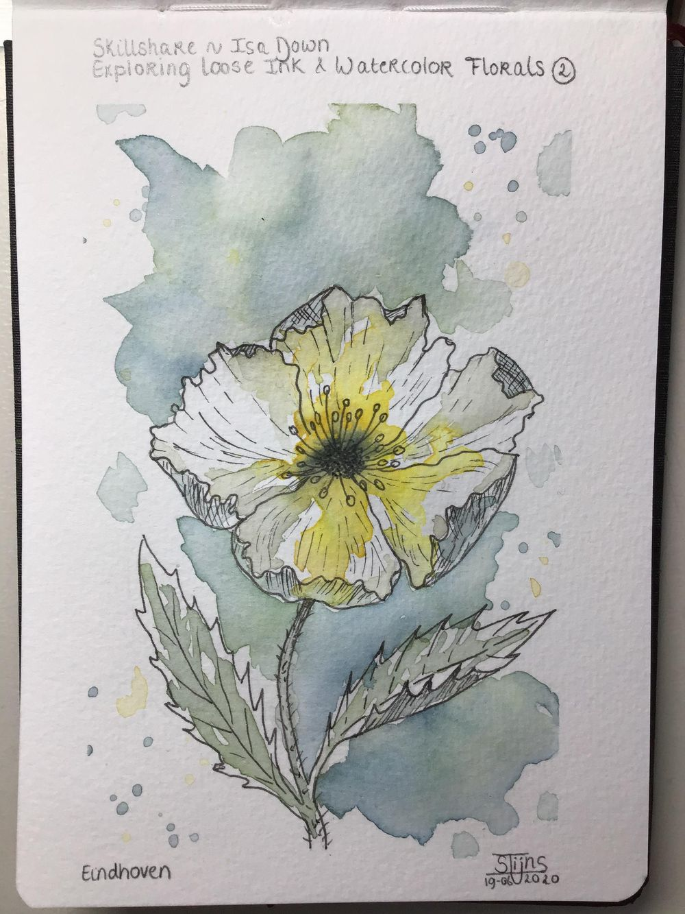 Loose watercolor and ink Flowers - image 2 - student project