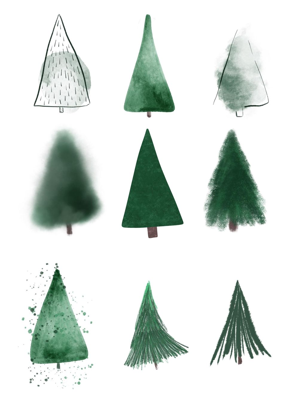 Trees! in varying styles - image 1 - student project