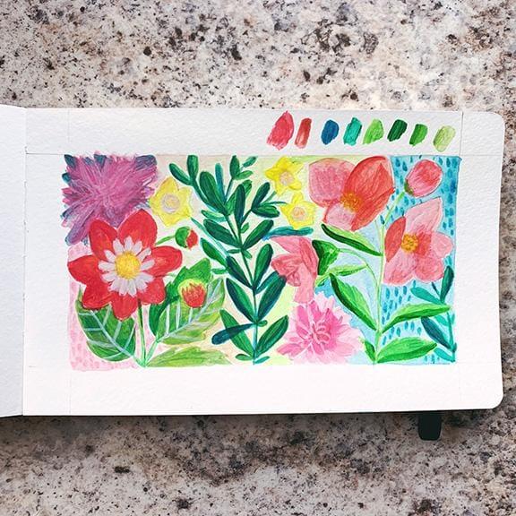 Botanical Garden - Gouache - image 2 - student project
