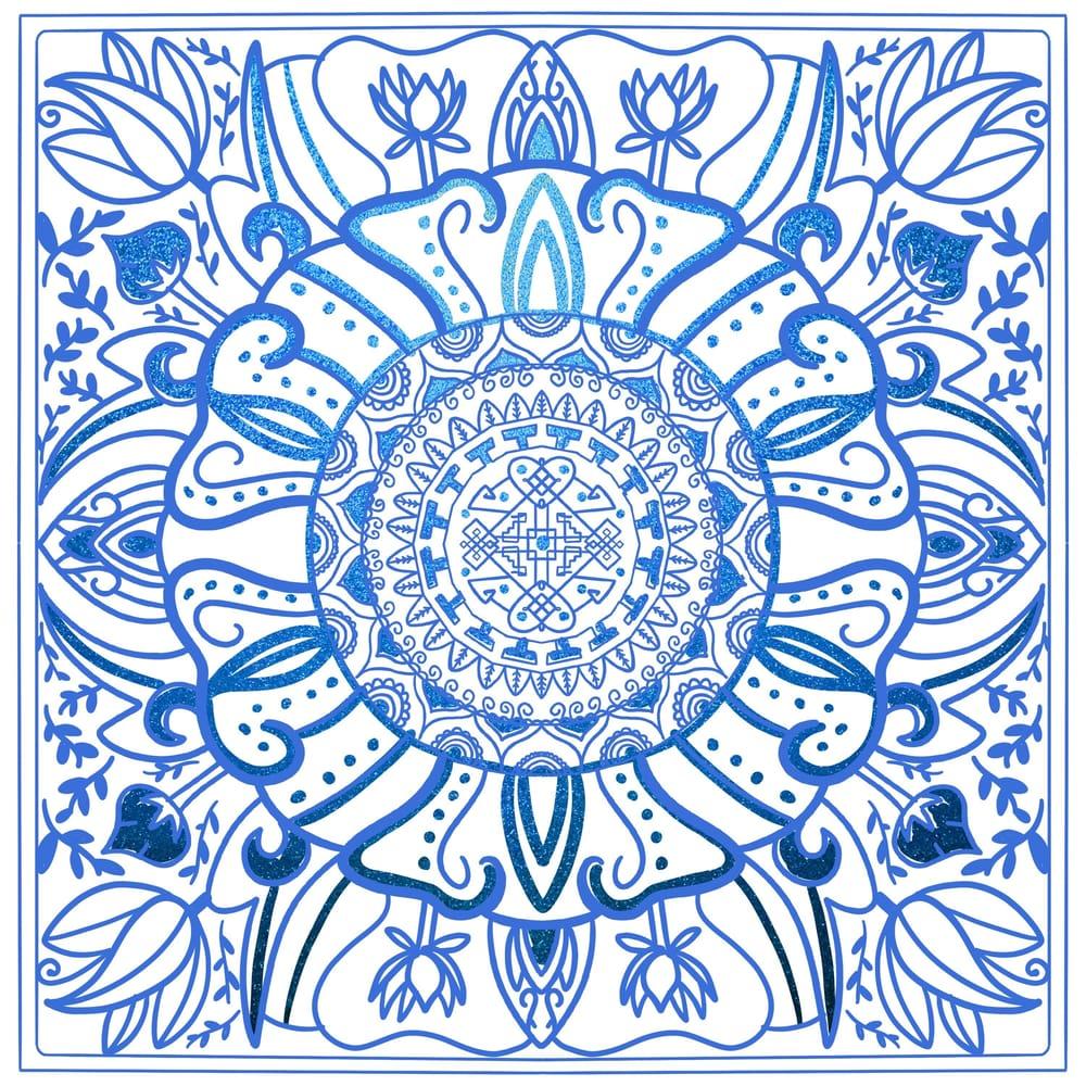 Metallic and Acrylic Meditation - image 7 - student project