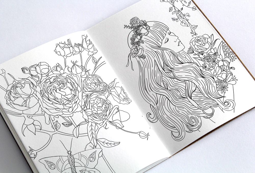 Botanical Coloring Book - image 3 - student project