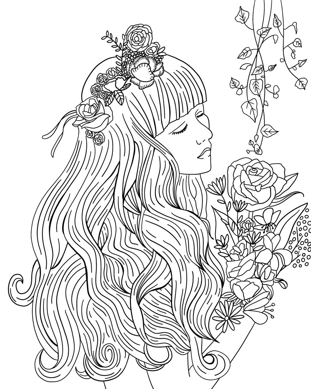 Botanical Coloring Book - image 1 - student project