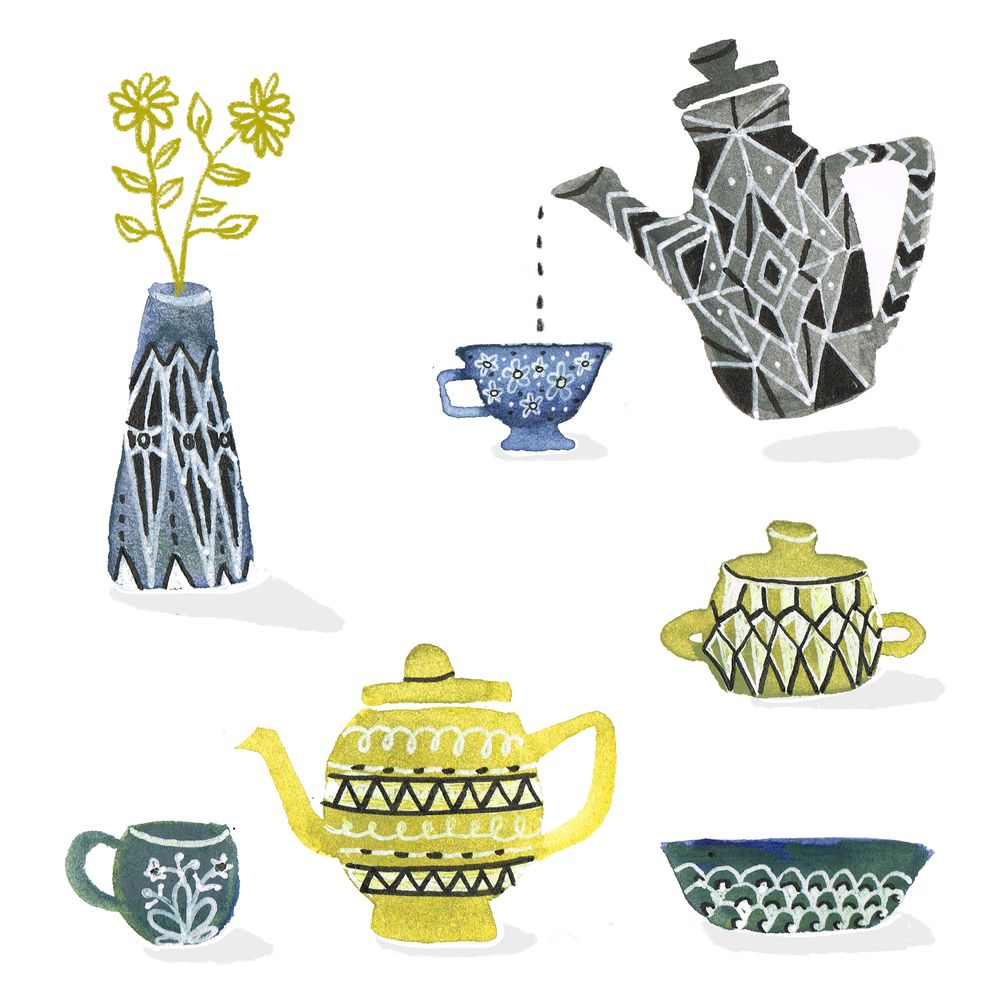 Watercolor Vases and stuff - image 1 - student project