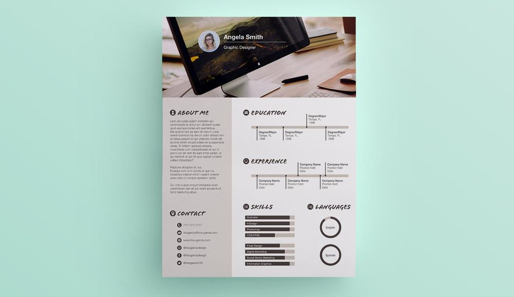 My Infographic Resume - image 1 - student project